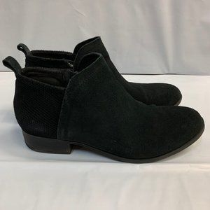 Toms Womens Deia Black Suede Ankle Booties NO BOX